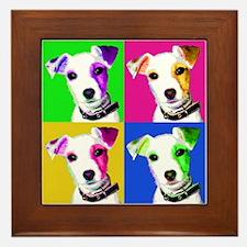 Jack Russell Pup Framed Tile
