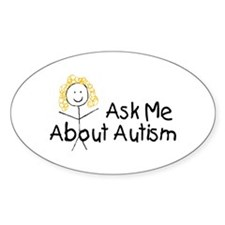 Ask Me About Autism Oval Decal