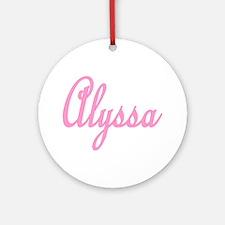 Alyssa Ornament (Round)