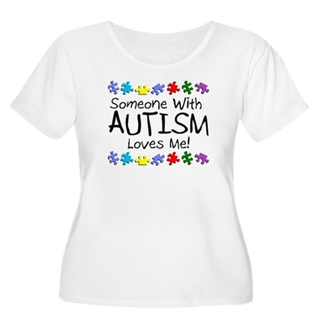 Someone With Autism Loves Me Women's Plus Size Sco