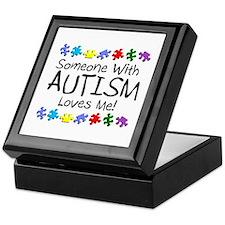 Someone With Autism Loves Me Keepsake Box