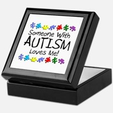 Someone With Autism Loves Me Keepsake Box