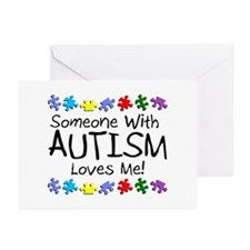 Someone With Autism Loves Me Greeting Cards (Pk of