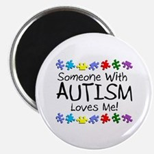 """Someone With Autism Loves Me 2.25"""" Magnet (10 pack"""