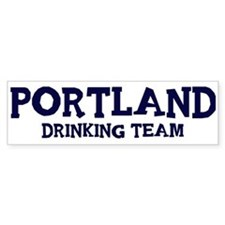 Portland drinking team Bumper Bumper Sticker
