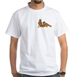 Neon Scared of Naked Girls White T-Shirt