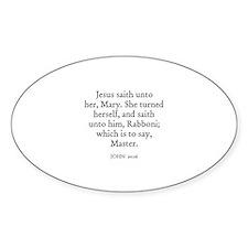 JOHN 20:16 Oval Decal