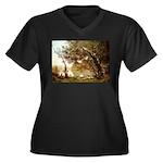 Souvenir Women's Plus Size V-Neck Dark T-Shirt