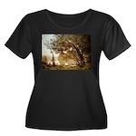 Souvenir Women's Plus Size Scoop Neck Dark T-Shirt