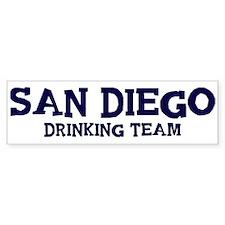 San Diego drinking team Bumper Sticker
