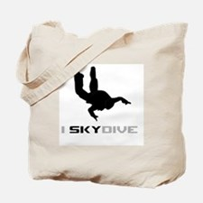 Cute Sky diving Tote Bag
