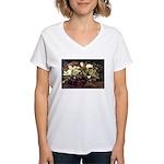 Basket of Flowers Women's V-Neck T-Shirt