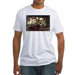 Basket of Flowers Fitted T-Shirt