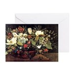 Basket of Flowers Greeting Cards (Pk of 10)