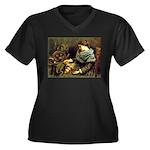 Spinner Women's Plus Size V-Neck Dark T-Shirt