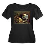 Spinner Women's Plus Size Scoop Neck Dark T-Shirt