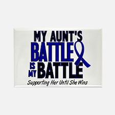 My Battle Too 1 BLUE (Aunt) Rectangle Magnet