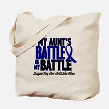 My Battle Too 1 BLUE (Aunt) Tote Bag