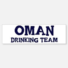 Oman drinking team Bumper Bumper Bumper Sticker