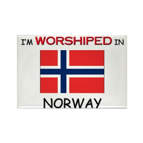 I'm Worshiped In NORWAY Rectangle Magnet (10 pack)