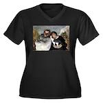 Crispin Women's Plus Size V-Neck Dark T-Shirt