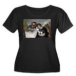 Crispin Women's Plus Size Scoop Neck Dark T-Shirt