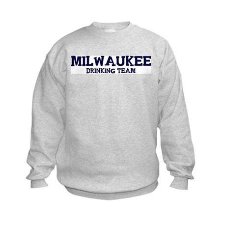 Milwaukee drinking team Kids Sweatshirt