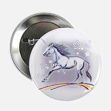 "Unicorn and Stars 2.25"" Button"