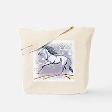 Unicorn and Stars Tote Bag