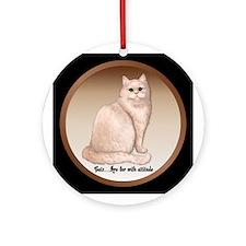 Cat Attitude - Persian Ornament (Round)