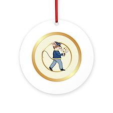 Daisy Mouse Boy Ornament (Round)