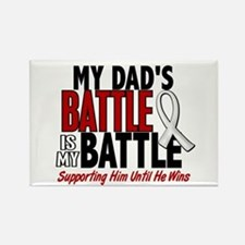 My Battle Too 1 PEARL WHITE (Dad) Rectangle Magnet
