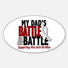 My Battle Too 1 PEARL WHITE (Dad) Oval Stickers
