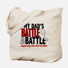 My Battle Too 1 PEARL WHITE (Dad) Tote Bag