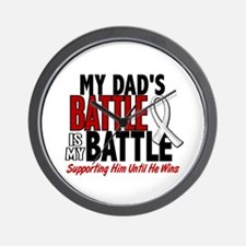 My Battle Too 1 PEARL WHITE (Dad) Wall Clock