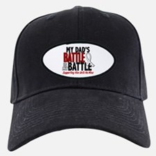 My Battle Too 1 PEARL WHITE (Dad) Baseball Hat
