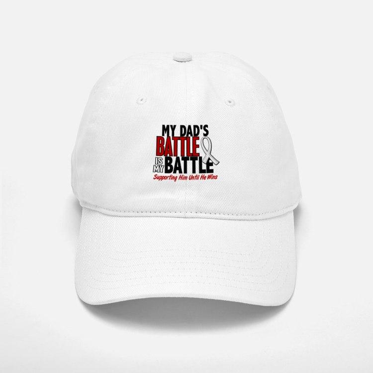 My Battle Too 1 PEARL WHITE (Dad) Baseball Baseball Cap