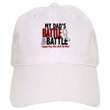 My Battle Too 1 PEARL WHITE (Dad) Baseball Cap