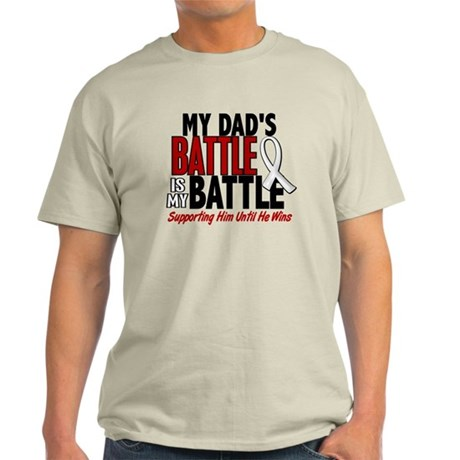 My Battle Too 1 PEARL WHITE (Dad) Light T-Shirt