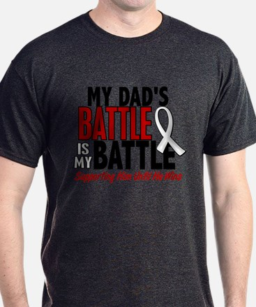 My Battle Too 1 PEARL WHITE (Dad) T-Shirt