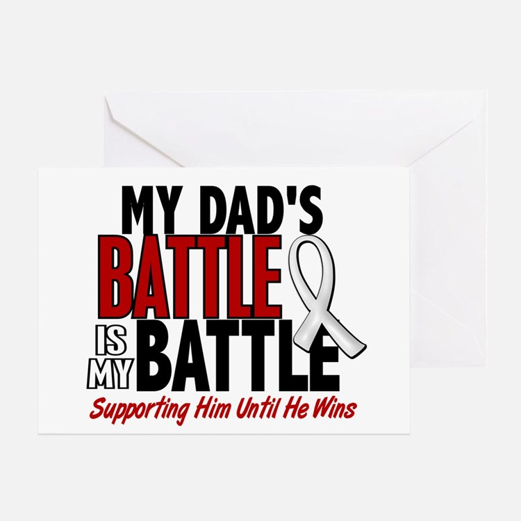 My Battle Too 1 PEARL WHITE (Dad) Greeting Card