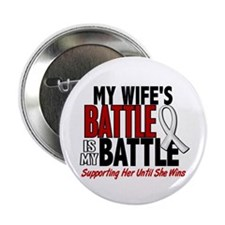 """My Battle Too 1 PEARL WHITE (Wife) 2.25"""" Button"""