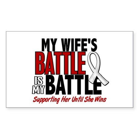 My Battle Too 1 PEARL WHITE (Wife) Sticker (Rectan