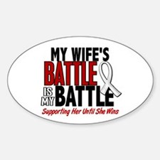 My Battle Too 1 PEARL WHITE (Wife) Oval Decal