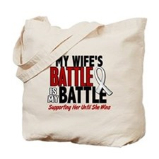 My Battle Too 1 PEARL WHITE (Wife) Tote Bag