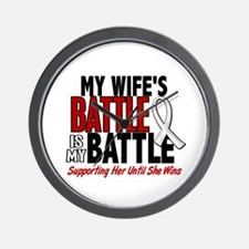 My Battle Too 1 PEARL WHITE (Wife) Wall Clock