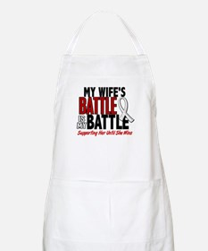 My Battle Too 1 PEARL WHITE (Wife) BBQ Apron