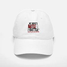 My Battle Too 1 PEARL WHITE (Wife) Baseball Baseball Cap