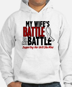 My Battle Too 1 PEARL WHITE (Wife) Hoodie