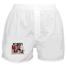 My Battle Too 1 PEARL WHITE (Wife) Boxer Shorts